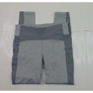 Athleta Women M x 28 Gray Yoga Pants Leggings Pocket Stretch